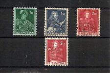 SVIZZERA 1941, 4v, usati, con variante colore carta (pha004)