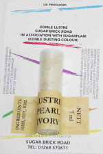 Sugarflair Pearl Ivory Lustre Dust Powder 7ml Edible Sparkly Food Colour Tint