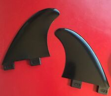 "Wakesurf GX Twin Side Replacement Fin Set - FCS compatible - 4"" Black"