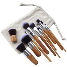 Natural Bamboo Handle Super Soft Setole ecocompatibili 11 PCS Makeup Brush Set