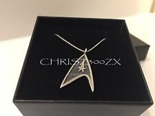 "Star Trek 50th Delta Charm Pendant Necklace Sterling Silver + 20"" chain Rocklove"