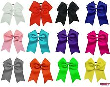 "USA 12 JUMBO 8"" Cheer Bow Ponytail Holder Big Girls Large Hair Bows softball"
