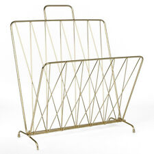 PT Metal Magazine Rack - Gold Metal. Foldable magazine rack