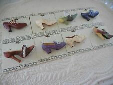 "Christmas Holiday Sale ! Wholesale Lot of Eight  (8) ""Shoe"" Brooches"
