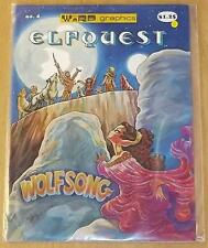 ELFQUEST #4 VF WARP GRAPHICS US MAGAZINE WOLFSONG 2ND PRINT