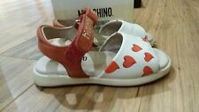 Girls MOSCHINO Sandals size: 6 white with red hearts
