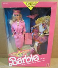 Flight Time Pilot Barbie Doll Gift Set Blonde Pink Outfit Briecase + Paper Doll