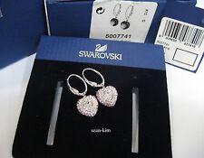 Swarovski Starlet Pierced Earrings Heart-Shaped Love Crystal MIB - 5007741