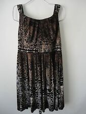 Dressbarn Dress Size 18 1X Brown Tribal
