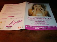 KYLIE MINOGUE FEVER RELANCE!!!!!!!RARE FRENCH PRESS/KIT