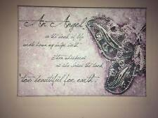 Canvas Diamond Dust Glitter baby loss,miscarriage,angel in the book of life a4