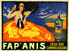 FAP ANIS, Vintage French Liquor Advertising Giclee Canvas Print 28x20