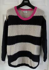 Indigo Collection Striped Jumper with Mohair - BNWT, size 14, Was 39.50