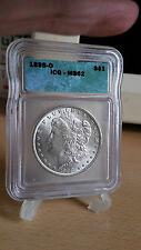 Silbermünze Silberdollar Morgandollar 1898o MS62 gradet by ICG