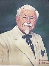 Norman Rockwell Harland Colonel Sanders Print Kentucky Fried Chicken #3294 Litho