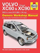 Haynes Owners Workshop Manual Volvo XC60 & XC90 Diesel (03 - 13) SERVICE REPAIR