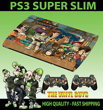 PLAYSTATION PS3 SUPER SLIM TOY STORY 3 BUZZ LIGHTYEAR WOODY GANG SKIN STICKER