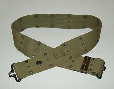 Original vtg dated 1945 WWII US Army Pistol Web Belt WW2 great condition 1940s