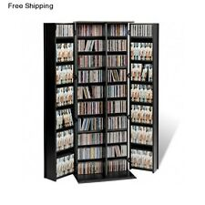 Large Media Storage Tower Multimedia Cabinet Rack CD DVD Shelf Holder Unit Stand