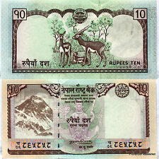 NEPAL billet neuf  de 10 Ruppees  Everest Himalaya  Cervidés  2008 Pick61