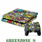 Stickerbomb Vinyl Decal Sticker Set for PS4 Console and 2 Controller