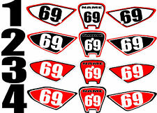 2002-2012 Honda CRF70 CRF 70 Number Plates Side Panels Graphics Decal