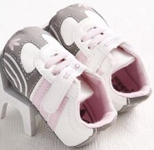 0-6 M Infants Baby Girl Soft Pu Leather Adidas Crib Sneakers Shoes Pre-Walking