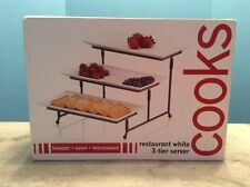 3 TIER WHITE SERVER BY COOKS JCP NEW IN BOX