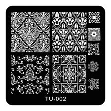 HOT Manicure TU Nail Stamping Plate Stainless Steel Nail Art Stamp Template T-02