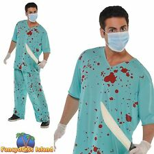 BLOODY DOCTOR SURGEON ZOMBIE HALLOWEEN - one size - mens fancy dress costume