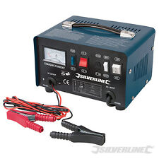 Silverline 268317 Battery Charger 12/24V 25-135Ah Batteries booster car truck