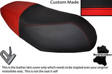 RED & BLACK CUSTOM FITS PEUGEOT V CLICK 50 07-13 DUAL LEATHER SEAT COVER