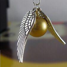collier Harry potter balle magique le Vif d'or Quidditch ailes argent tombantes