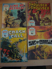 4 OLD VINTAGE BATTLE PICTURE LIBRARY WAR STORIES BOOKS MAGAZINES COMICS 854- 901