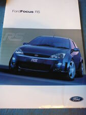 FORD FOCUS RS (SPECIFIC) CAR BROCHURE JULY 2002