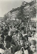 CARTE POSTALE PHOTO LOCHON / VOYAGE DU PAPE JEAN PAUL II GNIEZNO POLOGNE 1979