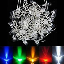 100Pz LED Diodi 3mm 5 Colori Bianco Rosso Giallo Blu Verde Super Luminoso