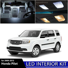 15PCS White Interior LED Light Package Kit For 2009 - 2013 Honda Pilot