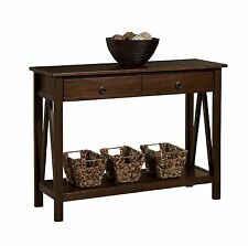 Wood Console Table Accent Sofa Stand Entry Brown Decor Furniture Living Room New