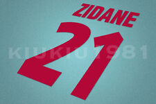 Juventus Zidane #21 1998-1999 Homekit Nameset Printing