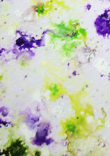 ACEO ORIGINAL PAINTING by Studio Angela Purple/Green Abstract #9