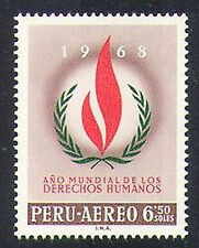 Peru 1968 Human Rights Year/Welfare/Flame/UN 1v (n37250)