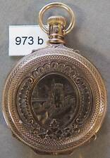Solid Gold, Box Hinge, Antique Illinois 6 Size Hunting Case Watch, NICE!