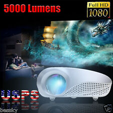 5000 Lumens  HD LED Projector 1080P Home Cinema Theater VGA USB AV PRO HDMI SD