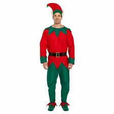 Elf Costume Unisex Men Adult Christmas Fancy Dress Costume Santa Helper New Xmas