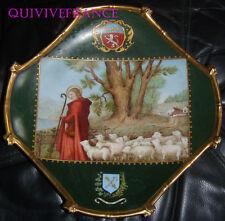 PLAT en PORCELAINE de SAINTE GENEVIEVE - MONASTERE de CLARISSES 1890
