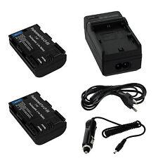 2x Akku Battery + KFZ Netzteil für Canon LP-E6 EOS 5D Mark II 7D 70D 60D 60Da