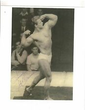 JOHN GRIMEK Posing at Mr America Contest  Bodybuilding Muscle Photo signed