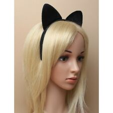 Black Cat Headband Hair band ears, Collar Set bell dressing up Halloween party
