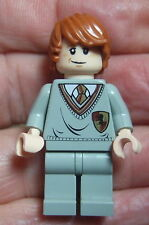 LEGO HARRY POTTER MINIFIGURE: RON WEASLEY GRYFFINDOR  pink flesh dual expression